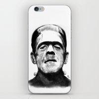 frankenstein iPhone & iPod Skins featuring Frankenstein by Zombie Rust