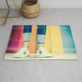 City Shoes Mannequin Photo Rug