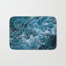 Blue Ice Glacier in Norway - Landscape Photography Bath Mat