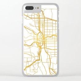 PORTLAND OREGON CITY STREET MAP ART Clear iPhone Case