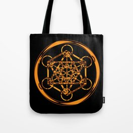 Metatron Cube Gold Tote Bag