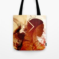 daenerys Tote Bags featuring Mother of Dragons by Micheal Calcara