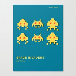 8 BITS BETTER -  SPACE INVADER Canvas Print