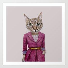 cat Mrs Art Print