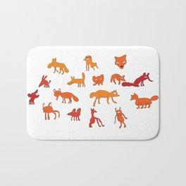 Weird Foxes Bath Mat