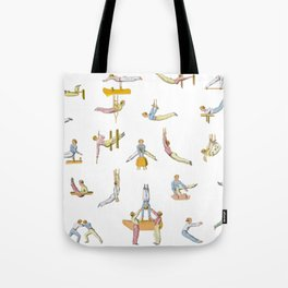 Jaunty Gymnasts Tote Bag