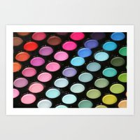 makeup Art Prints featuring Makeup by Ink and Paint Studio