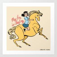 tina belcher Art Prints featuring Tina Belcher by Carolyn C Nowak