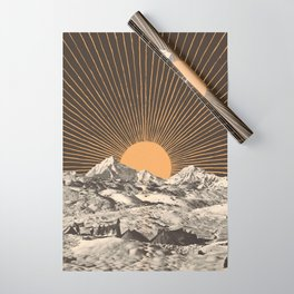 Mountainscape 6 - Night Sun Wrapping Paper