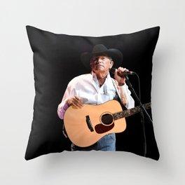 George Strait in Vegas Throw Pillow