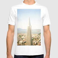 Transamerica Pyramid, San Francisco White Mens Fitted Tee MEDIUM