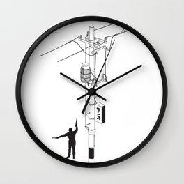 Tokyo Electric Pole Wall Clock