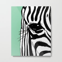 Zebra is watching you Metal Print