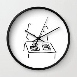 Meeting editorial staff editorial office newspaper Wall Clock
