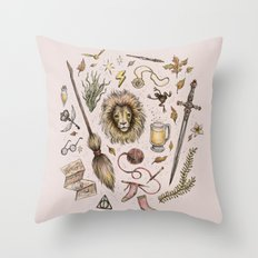 Gryffindor, Courageous and Brave! Throw Pillow