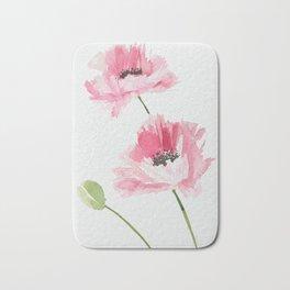 Pink Poppies Bath Mat
