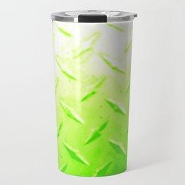 Lime Green Industrial Metal Sheeting Digital Photo Edited Travel Mug