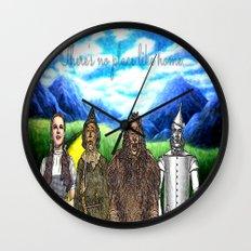 No Place Like Home Wizard Oz Art Wall Clock