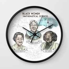 Black Women in the Mathematical Sciences Wall Clock