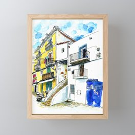 Calle Escalera de Piedra, Dalt Vila, Ibiza Framed Mini Art Print