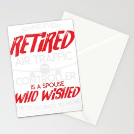 Air Traffic Retirement Air Controller Airplane Stationery Cards