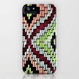 Bargello hourglass -  does anyone really know what time it is? iPhone Case