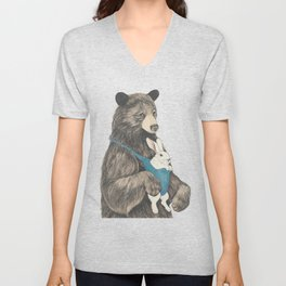the bear au pair Unisex V-Neck