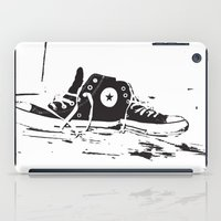 converse iPad Cases featuring CONVERSE by PixelRiff