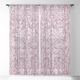 William Morris,The Strawberry thief,revamped Sheer Curtain