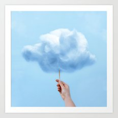 RAINY COTTON CLOUD Art Print
