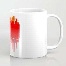 Abstract Guitar City Coffee Mug