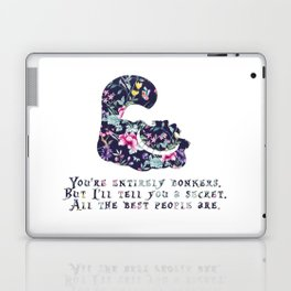 Alice floral designs - Cheshire cat entirely bonkers Laptop & iPad Skin