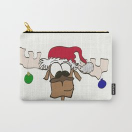 Reindeer Decked Out With Santa's Hat Carry-All Pouch