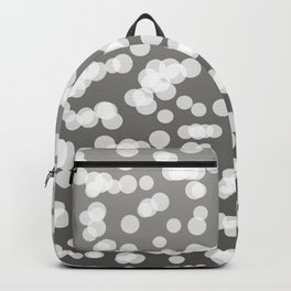Blurry Lights: Grey Backpack