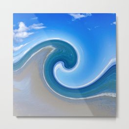 Sky and Beach Wave Design 753 Metal Print