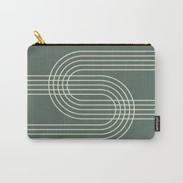 Geometric Lines in Sage Green 12 (Rainbow Abstract) Carry-All Pouch