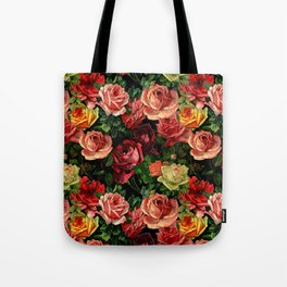Vintage & Shabby chic - floral roses flowers rose Tote Bag