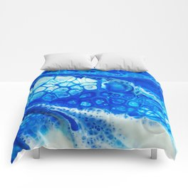 Blue cells Comforters