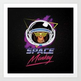 Space Monkey 1980s Art Print
