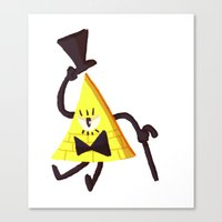 bill cipher Canvas Prints featuring Bill Cipher by Itzitxou