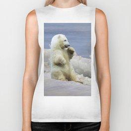 Cute Polar Bear Cub & Arctic Ice Biker Tank