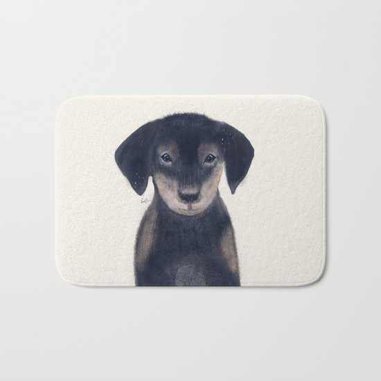 little dachshund Bath Mat