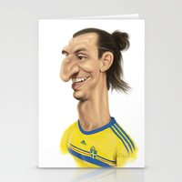 sweden Stationery Cards featuring Ibrahimovic - Sweden by Sant Toscanni