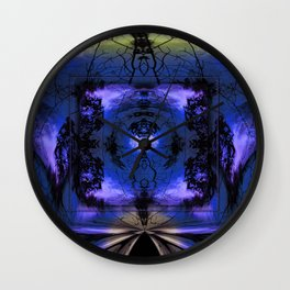 Mandala - for the right path Wall Clock