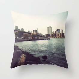 The Calm of the City Throw Pillow