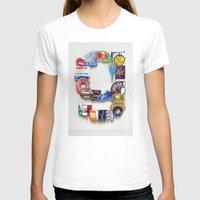 letter T-shirts featuring Letter G by Vertigo Art