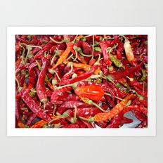 Sundried Chili Peppers Art Print