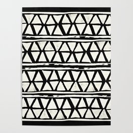 Tribal Geometric Band Poster
