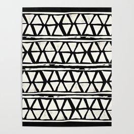 Tribal Geometric Band Poster