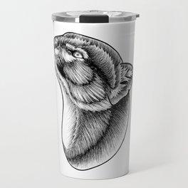 Jaguarundi cat - ink illustration Travel Mug